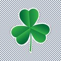 Vector three leaf clover sticker flat icon on transparent background