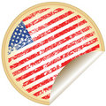 Sticker with U.S.A flag Royalty Free Stock Photos