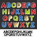 Stickers of alphabet - own font Stock Photography