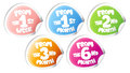 Stickers for baby goods. Royalty Free Stock Image