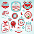 Stickers and badges for New Year and Christmas Royalty Free Stock Images