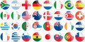 Stickers buttons of national flags of countries Stock Photo