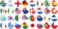 Stickers buttons of national flags of countries Stock Image