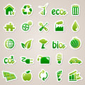 Stickers about ecology concept icons for web design Stock Images