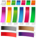 Stickers elongated image colored with shadows on white background Stock Photos