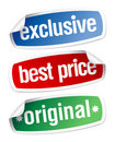 Stickers for exclusive sales under the best price Stock Image