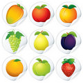 Stickers with Fruits Royalty Free Stock Images
