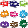 Stickers illustration of colorful on a white background Stock Photos