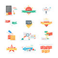 Stickers labels tags set Royalty Free Stock Photo