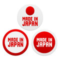 Stickers with Made in Japan Stock Photography