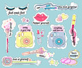 Stickers on make-up theme