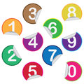 Stickers with numbers. Royalty Free Stock Photos