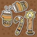 Stickers Ornate Set.