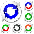 Stickers recycling on white background Royalty Free Stock Images