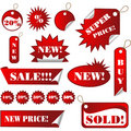 Stickers and Sales Tags Royalty Free Stock Photo