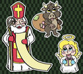 Stickers for St. Nicholas Day Stock Images