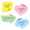 Stickers for text, design. Note. Royalty Free Stock Photo
