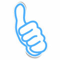 Stickers of very good hand gesture vector Royalty Free Stock Photo