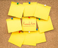 Sticky blank note resolutions for new year Royalty Free Stock Photo