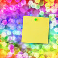Sticky note on magical light. Stock Photography