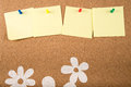 Sticky note memo on board Royalty Free Stock Photo