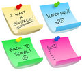 Sticky note options Royalty Free Stock Photography