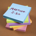 Sticky note reminder. Royalty Free Stock Photography