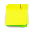 Sticky note with shade on white Stock Photo