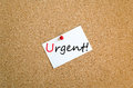 Sticky Note Urgent Concept Royalty Free Stock Photo