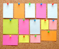 Sticky notes Royalty Free Stock Photos