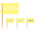 Sticky notes on toothpicks Royalty Free Stock Image