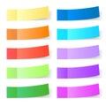 Sticky paper set Royalty Free Stock Photo