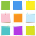 Sticky Post-it Notes Colorful Stock Images