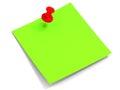 Sticky reminder note Royalty Free Stock Photo