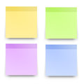 Sticky reminder notes realistic colored papers