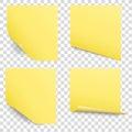 sticky reminder notes vector set