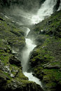Stigfossen waterfall ( Norway ) Stock Image