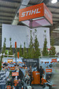 Stihl germany company booth visitors visit during rd international forum of building materials and technologies interbudexpo at Stock Photos