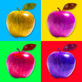 Stile di pop art di apple Fotografie Stock