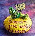 Stilish needy garden sculpture Royalty Free Stock Photo