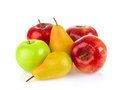 Still life apple and pear Royalty Free Stock Photo