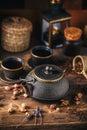 Still life of asian tea set Royalty Free Stock Photo