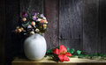 Still life with a beautiful bunch of flower decoration artificial Royalty Free Stock Photography