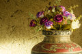 Still life beautiful rose in old clay vase Royalty Free Stock Photo