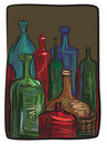 Still life with bottles Royalty Free Stock Photo