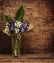 Still-life bouquet of lily of the valley Royalty Free Stock Photography