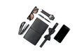 Still life of casual man. Modern male accessories on white Royalty Free Stock Photo