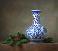 Still life with chinese vase Royalty Free Stock Photography