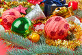 Still life with Christmas decoration balls Royalty Free Stock Photo