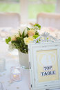 Still Life Of Decorations On Wedding Breakfast Table Royalty Free Stock Photo